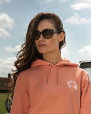 Hook Polo Hoodie - Sunset Orange