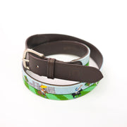 Needlepoint Belt - British Polo