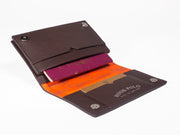 Travel Wallet - Brown Leather Crocodiles