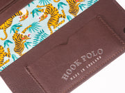 Travel Wallet - Brown Leather Tigers