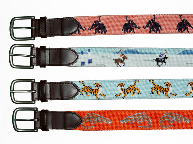 Needlepoint Belt - Crocodiles
