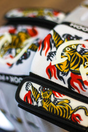 Tiger Flame Polo Gloves - Designed by Artist Gustavo Ikeda