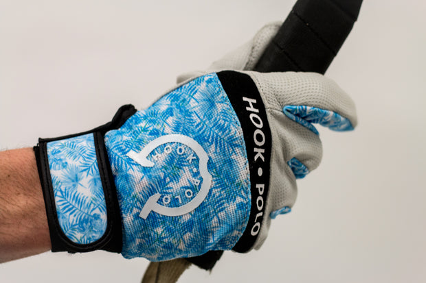 Blue Fern Leather Sports Polo Gloves