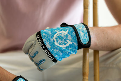 Blue Fern - Pearl White Leather Sports Polo Gloves