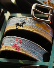 Needlepoint Belt - Beach Polo