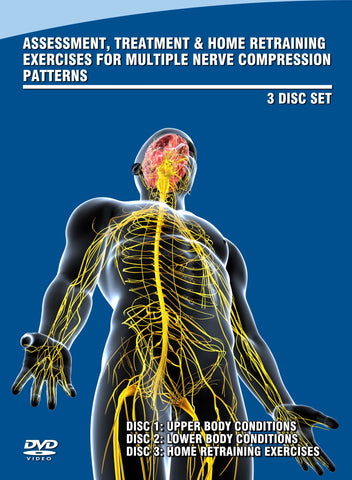 HOLIDAY SPECIAL: Manual Therapy to Eliminate Multiple Nerve Compression Patterns 3 Pack DVD Set with a Bonus Total Body DVD