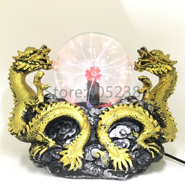 Twin Dragon Plasma Lamp