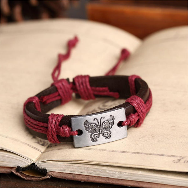 Lace up Butterfly Bracelet