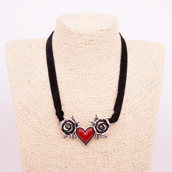 Custom Heart Rose Necklace