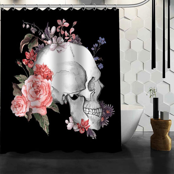 Custom Skull Shower Curtain