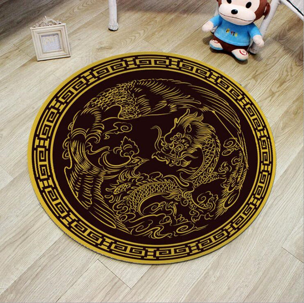 Custom Dragon Rug