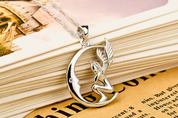 Crescent Angel Necklace