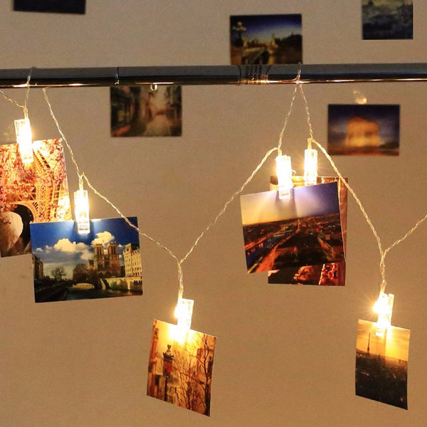Light-Up Photo Holder Clips