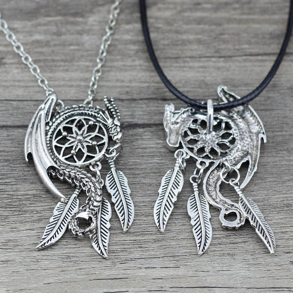 Dragon Dreamcatcher Necklace