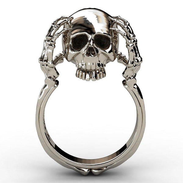 Floating Head Skull Ring