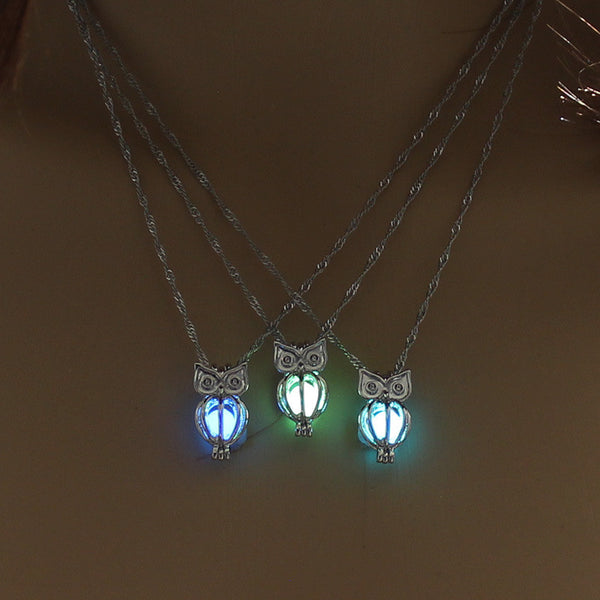 Glow In The Dark Owl Necklace