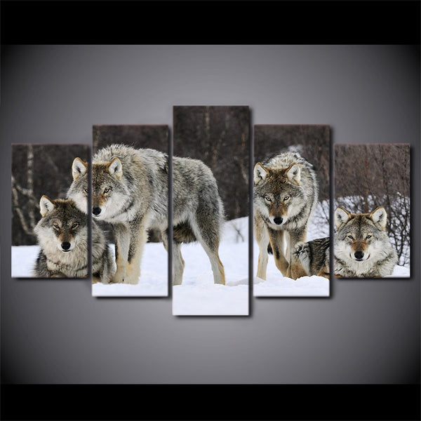 Winter Wolf Canvas