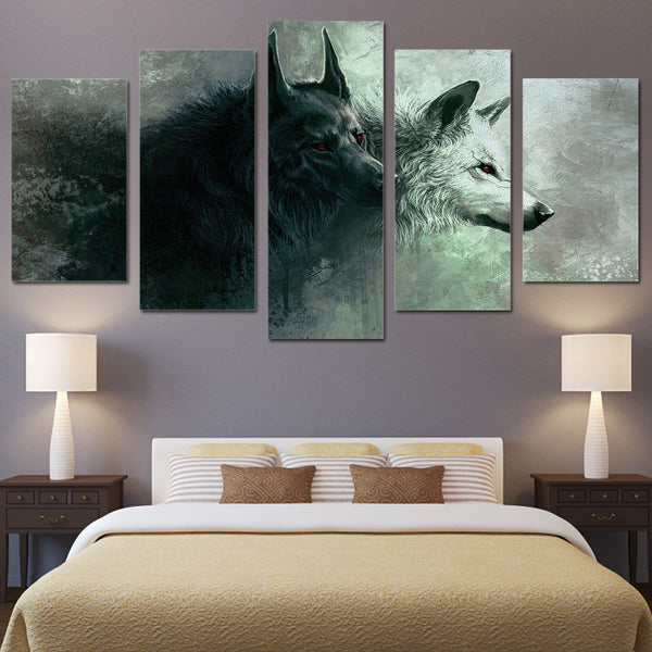 Grim Wolf Canvas