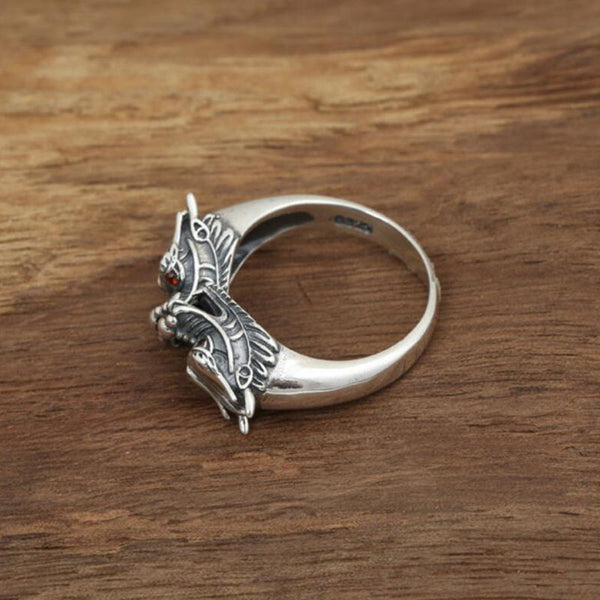 Twin Dragon Ring