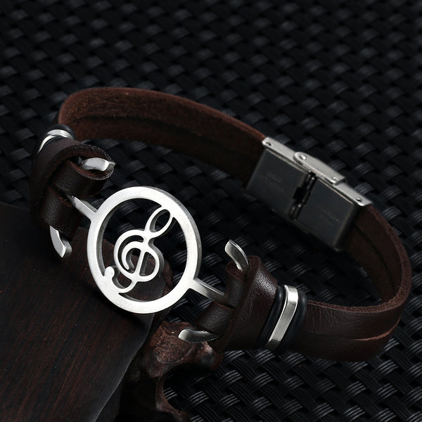 Leather Music Bracelet
