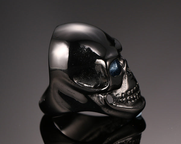 Black Fire Skull Ring
