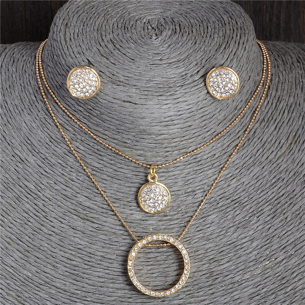 Crystal Necklace Jewelry Set