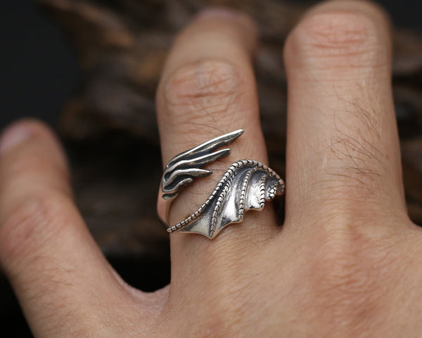 Custom Dragon Wing Ring