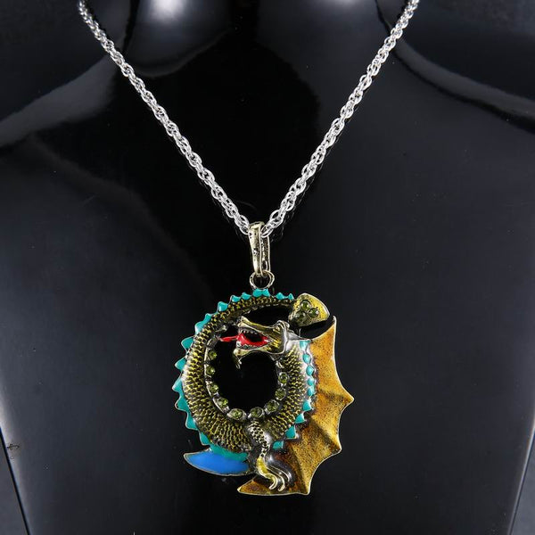 Circle Dragon Necklace