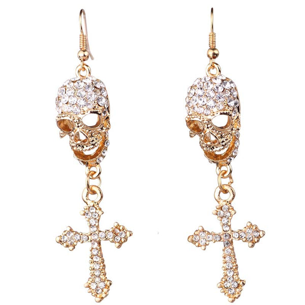 Skull Cross Earrings