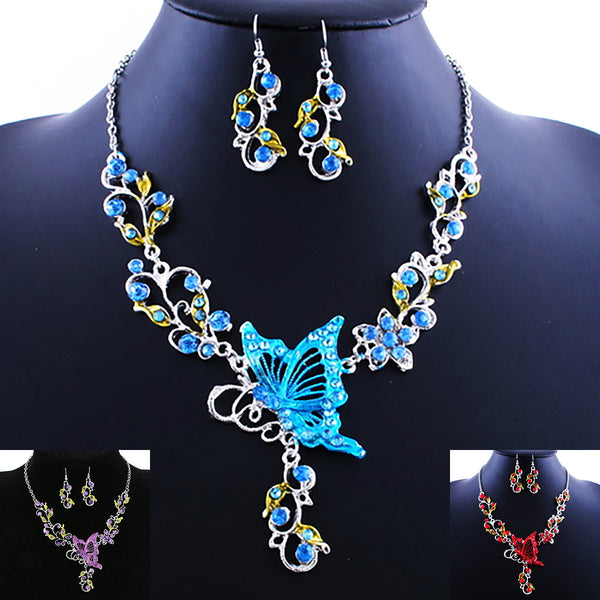 Butterfly Vine Necklace Set