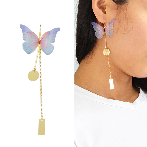 Butterfly Chain Earring