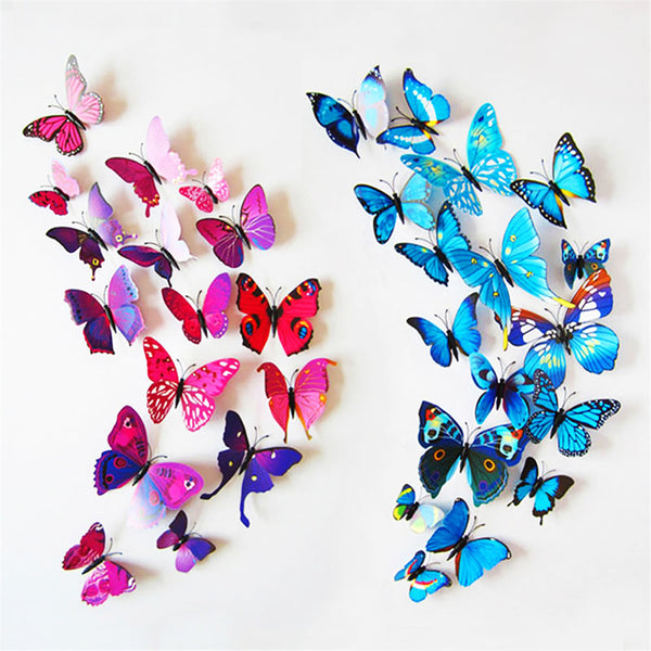 3d butterfly wall sticker set thefashionbooth for Stickers para decorar paredes infantiles