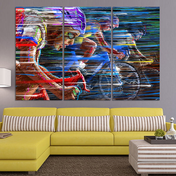 Cycling Canvas Art