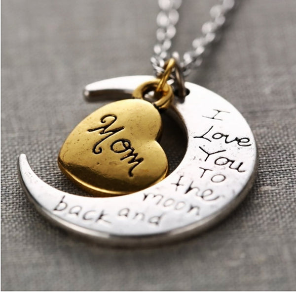 Moon And Back Mom Necklace