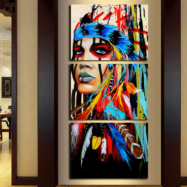 Native Canvas Print