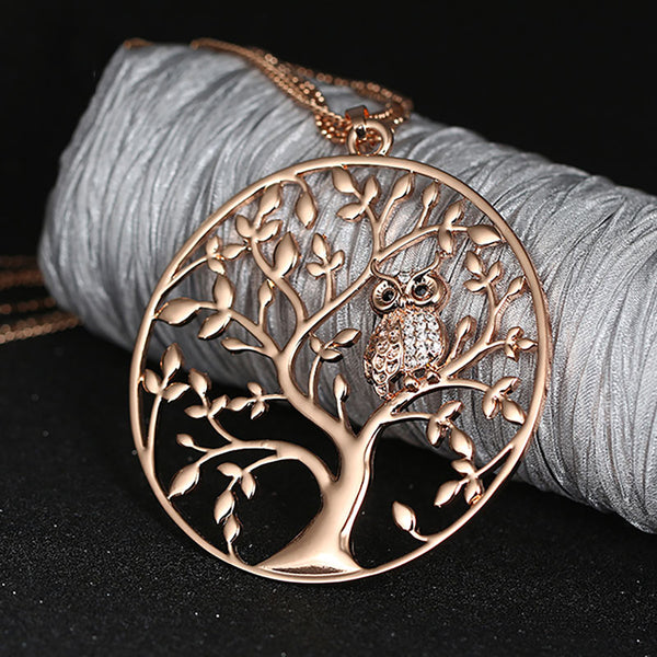 Owl Tree Necklace