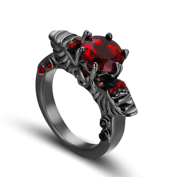 Gemstone Skull Ring