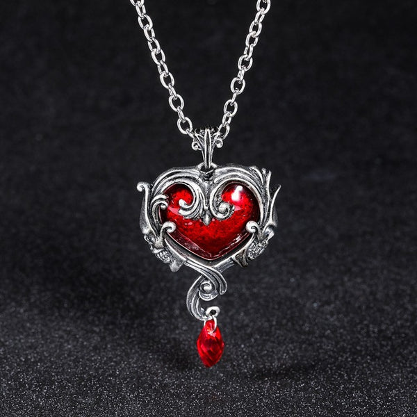 Eternal Heart Skull Necklace
