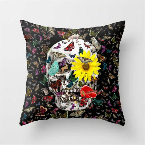 Custom Skull Pillow Case