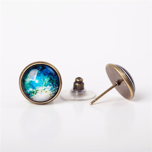 Custom Galaxy Earrings