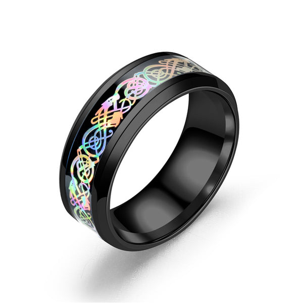 Rainbow Dragon Rings