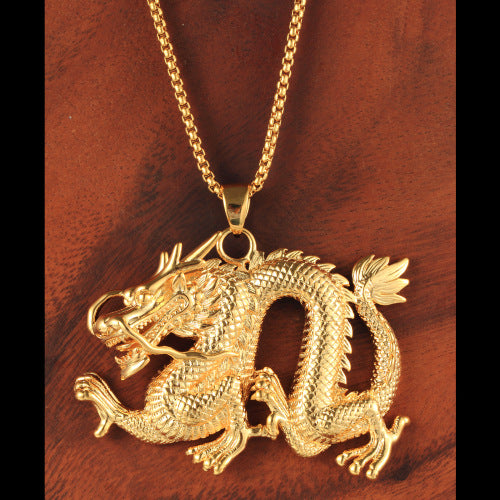 Live Dragon Necklace