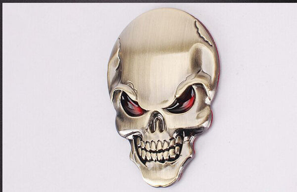 3D Skull Vehicle Sticker