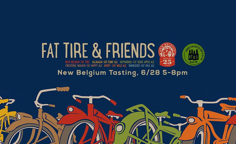 6/28  5-8pm Tasing with New Belgium Brewery