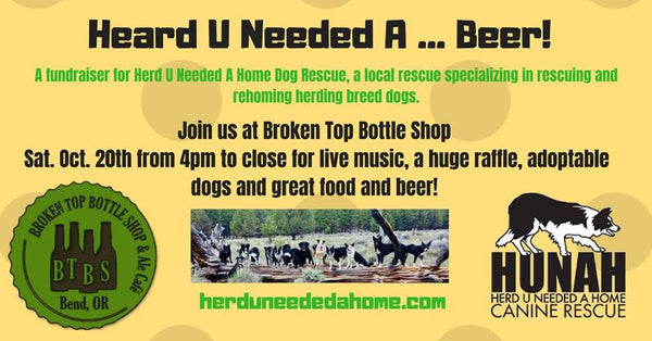 10/20 5:30 Heard you Needed a Beer...  Fundraiser for HUNAH (Heard You Needed a Home)