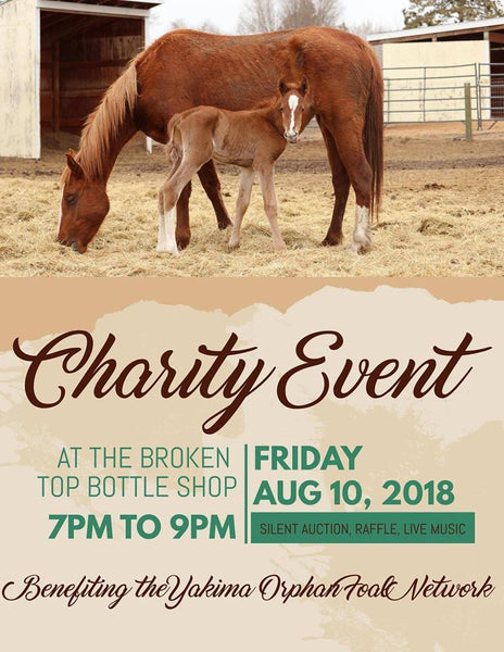 8/10  7-9pm Charity Event - Yakima Orphan Foal Network
