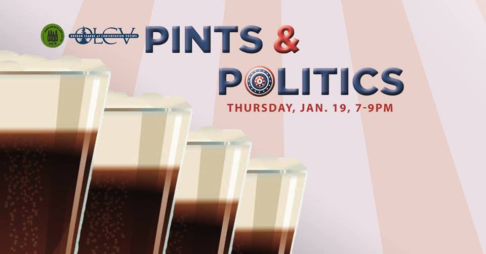 1/19  7-9PM  Pints and Politics