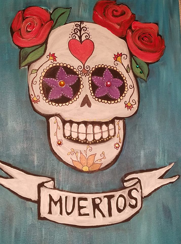 10/9  Paint & Sip El Dia de los Muertos  with Judy Fuentes of Artventure with Judy
