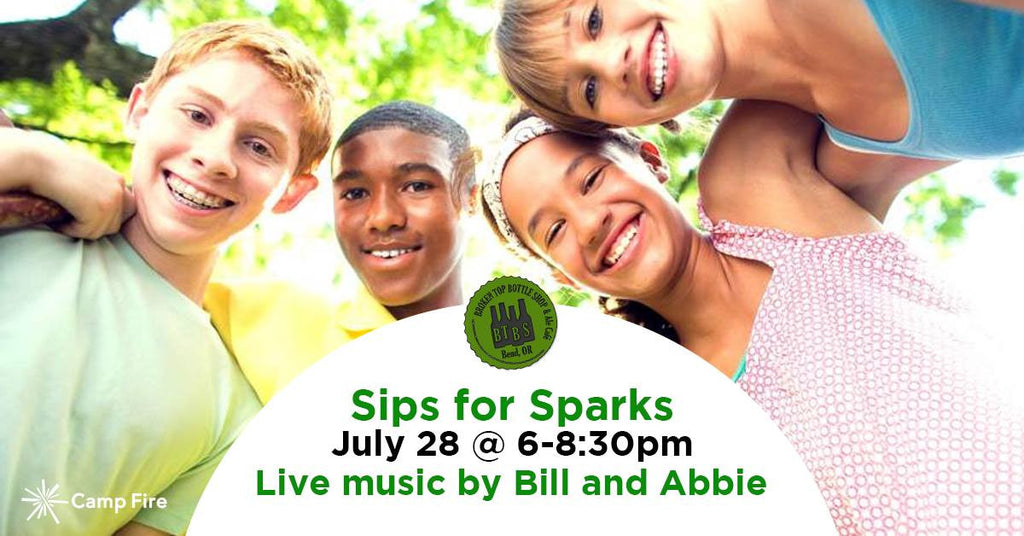 7/28  6-8:30pm  Sips for Sparks Fundraiser