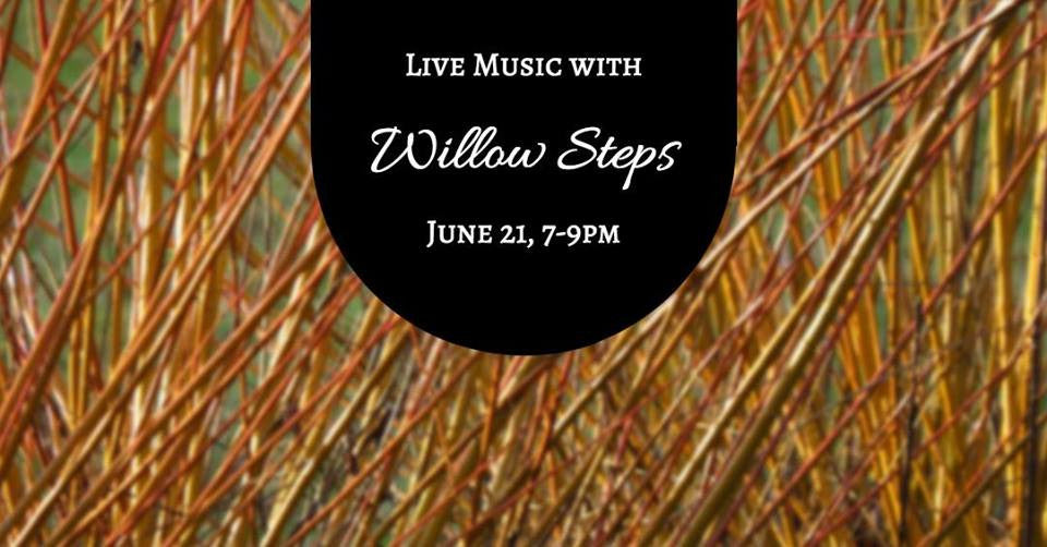 6/21  Live Music with Willow Steps  7-9pm